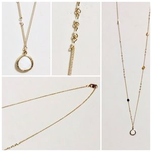 Target brand long gold tone Necklace